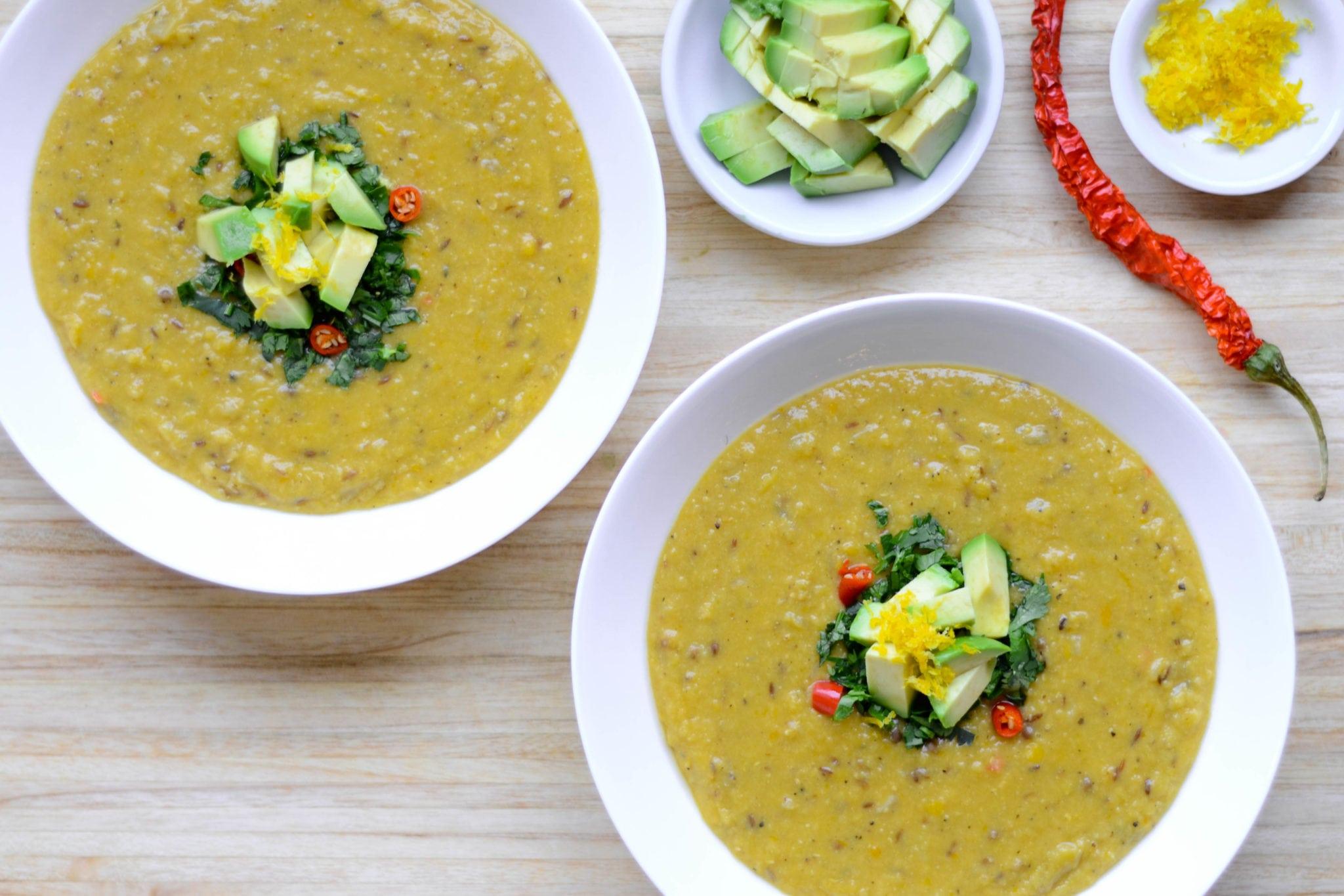 Coconut-Coriander Lentil Soup