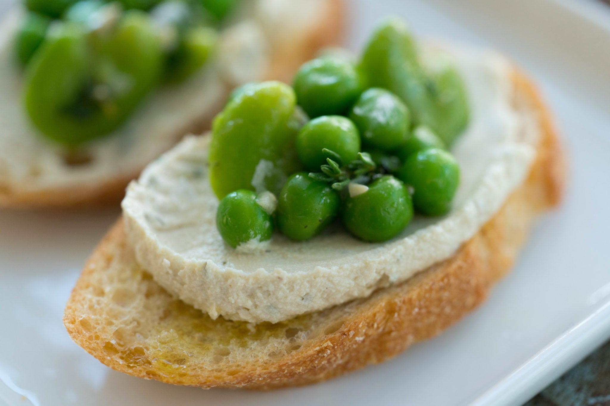 Fave- Bean Pea Crostini